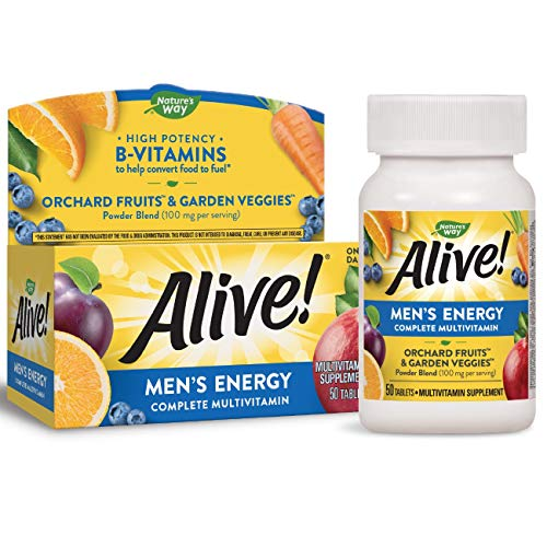 Nature's Way Alive! Men's Energy Complete Multivitamin, High Potency B-Vitamins, 50 Tablets