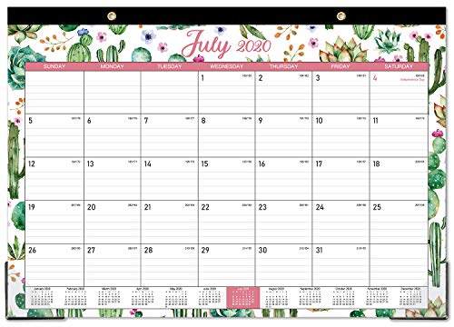 2020-2021 Desk Calendar - 18 Months Desk Calendar, 17' x 12', Monthly Desk or Wall Calendar, July 2020 - December 2021, Large Ruled Blocks Perfect for Planning and Organizing for Home or Office