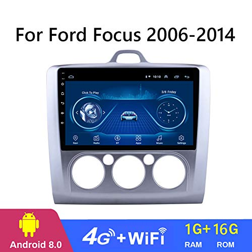 Dr.Lefran Android 8.1 Car Audio Player 9inch for Ford Focus 2006-2014 Car GPS Navigation with HD Screen,Playstore,WiFi,4g+WiFi 1g+16g
