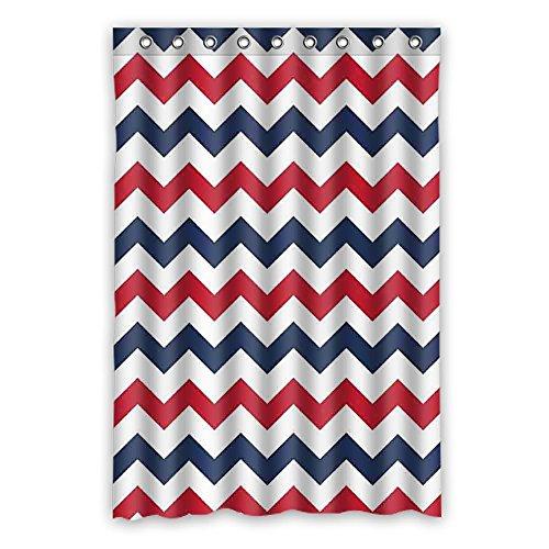 DOUBEE Chevron Wasserdichtes Mildew Duschvorhänge Shower Curtain 120cm x 183cm Mit Haken
