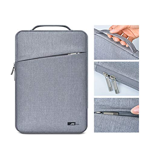 JRCMAX Premium 14 Inch Laptop Sleeve Case Compatible with MacBook Pro 15' and Microsoft Laptop 3 15',14' ThinkPad/HP/DELL/ASUS Laptop, Water Repellent Vertical Protective Case Cover with Pocket-Gray