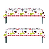 2Pack Mickey Mouse Party Tablecloth, Mickey Mouse Party Supplies (86' x 51')