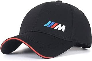 Car Logo M Series Adjustable Baseball Hat, Unisex Hat Sports Cap with Sporty Red Trim, Car Racing Motor Cap for BMW (Black)