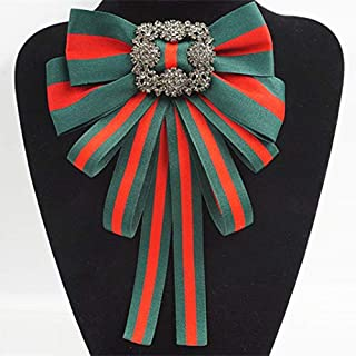 fabric bow brooch