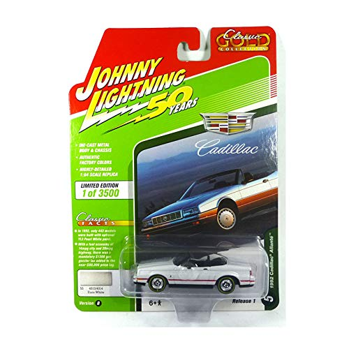 Johnny Lightning JLCG019 Classic Gold VER B1992 Cadillac Allante Euro White