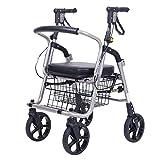 Chariots de courses caddie caddie senior caddie caddie caddie dépanneur aide aux personnes âgées scooter peut se reposer peut supporter 120 kg (Color : Black, Size : 38 * 56 * 80cm)