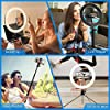 """AYSIS 10"""" Inches Big LED Ring Light for Photo and Video with 9 Feet Stand Compatible with Camera and Smartphones for Tiktok YouTube. #3"""