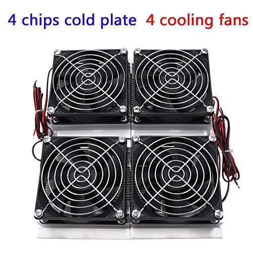 Hilitand 240W Hochleistungs-Halbleiter-Kühlungs-thermoelektrischer Peltier-Kühlplatten-Kühler mit dem Fan, schwarz