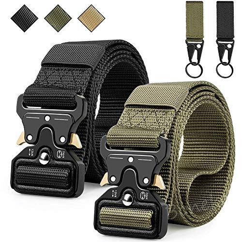 Boneke Cintura Tattica, Cintura Militare Tattica per Uomo Heavy,Tessuto in Nylon Cintura, con Sicurezza Fibbia a sgancio rapido in metallo, di Salvataggio per Sport e All'aria Aperta Cintura Militare