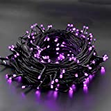 WATERGLIDE 300 LED Purple Halloween String Lights, 98.5FT 8 Lighting Modes Light, Plug in String Waterproof Mini Fairy Lights for Outdoor Holiday Christmas Wedding Party Bedroom Decorations