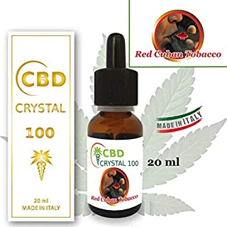 E-liquid CBD liquido vapeo CRYSTALCBD 100MG CBD-20ML SABOR: TABACO CUBAN RED