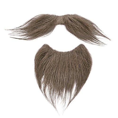Bristol Novelty- Juego de barba y bigote marrón, Color, Talla única (MB096)