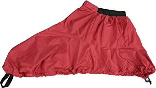 Walory Falda Tipo Rociador para Kayak - Rojo Cubierta de Falda Rociada de Nailon Impermeable Ajustable para Deporte Univer...