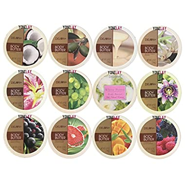 Pick Your Choice of Any 4 Packs of Delon Intense Moisturizing Body Butter (Pack of 4)
