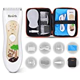Birmirth Electric Baby Hair Clippers Kits with Accessories Storage Bag Fully Washable Waterproof