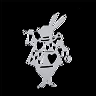 Shinebear Metal Cutting Dies Stencil Alice Wonderland White Rabbit DIY Scrapbooking Decorative Craft Photo Album Embossing Folder Paper