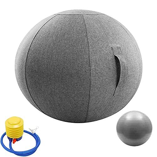 LYQCZ Ballon Grossesse Swiss Ball Ballon Fitness Ballon Gym Et De Grossesse Decathlon Ballon Sport, Housse De Siege Ballon Ergonomique, pour Le Bureau Et La Maison(Color:Gray Gray,Size:75cm)