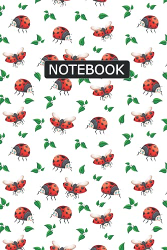 Ladybug Notebook: Ladybug Notebook Journal To Write Notes, Password, Notepad, To Do Lists - 6 x 9 Inches - 100 Pages