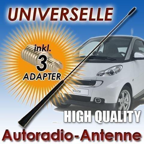 INION 40 cm Autoantenne ANTENNE Stabantenne Universal für SMART ForTwo - ForFour - Ersatz FM/AM