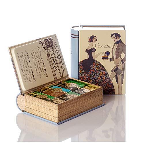 Venchi Assorted Grandblend Chocolates in Mini-Book Tin Gift, 135g - Gluten Free