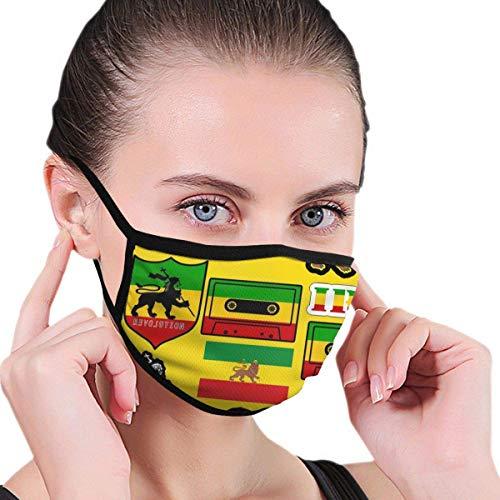 Ademende Half Gezicht Mond Ma-sk Mode Kostuum Ma-sk - Rasta Leeuw Jamaicaanse Reggae Vlag Kaart Magnetische Tape