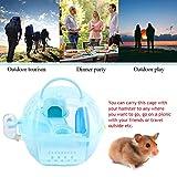 DAUERHAFT Cage Portable multifonctionnelle Portable pour Hamster pour Hamster(Blue)