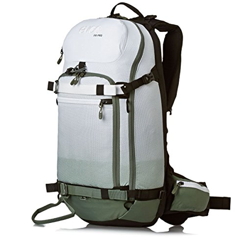 evoc Sac à Dos pour Homme FR Pro Protektor - Olive/Blanc - 50 x 27 x 14 cm - 18 l