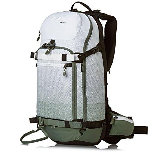 EVOC Sports GmbH Herren Fr Pro Protektor Rucksack, Olive/White, 50 x 27 x 14 cm, 18 Liter