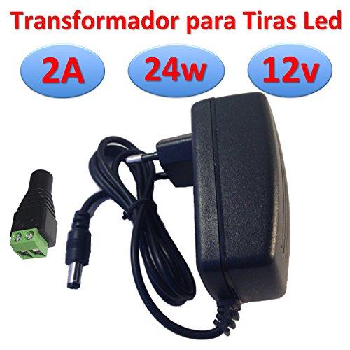 transformator 12 V DC 2 A 24 W voeding voor LED-strips, voeding 220 V -> 12 V (12 V, 2 A, 24 W)