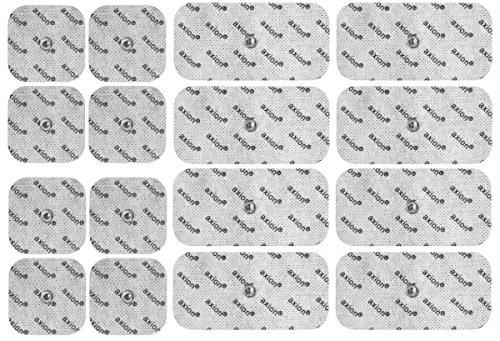 Set de 16 Electrodos para su electroestimulador TENS EMS | Compatible con VITALCONTROL & Beurer - axion