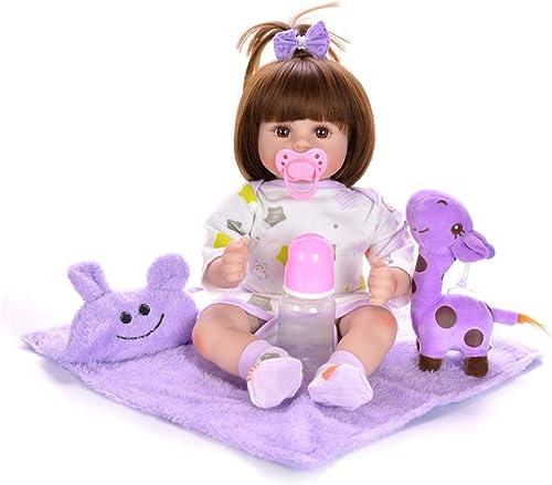 HWBB Reborn Babypuppe 18 Stoff   Simulation Baby Weiße Silikon Wiedergeburt Puppe Reborn Baby Lebensechte Junge mädchen Spielzeug Kinder Playmate Beste Geburtstagsgeschenk