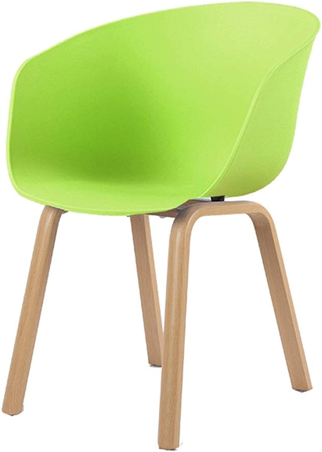 Ailj Home Dining Chair, Hotel Wood Negotiating Chair Cafe Lounge Chair Computer Office Chair 46  42  79 cm 3 colors (color   Green)