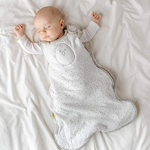 Nested Bean Zen Sack - Gently Weighted Sleep Sacks | Baby: 0-6 Months | Cotton 100% | Help Newborn/Infant Swaddle Transition | 2-Way Zipper | Machine Washable