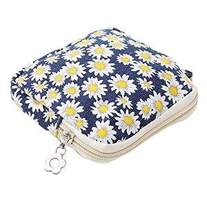 Eleusine Zipper Coin Purse Women Cute Sanitary Pad Organizer Holder Napkin Towel Convenience Bags