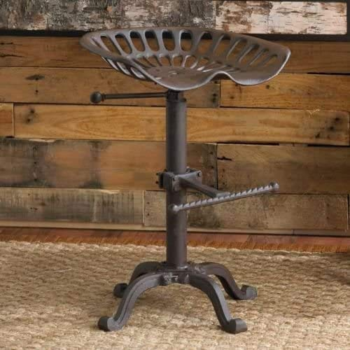 Elm home and garden Tractor Stool Vintage Seat Bar Rustic Industrial Shabby chic