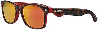 Zippo - Gafas de sol 2020 OB66-10 lentes espejadas naranjas con inserciones rojas montura Camo