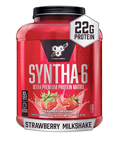 BSN Syntha 6 Sustained Release Strawberry Whey Protein Powder 2.29 kg