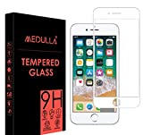 Medulla Edge to Edge White Border 11D Tempered Glass Screen Protector for Apple iPhone 7 Plus/8 Plus (Pack of 2)