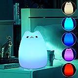 KANGDE Bunte Silikon Nachtlicht Katze wiederaufladbare Berührungssensor Led Schreibtischlampe Baby Schlafzimmer Reduzieren Drucktischlampe
