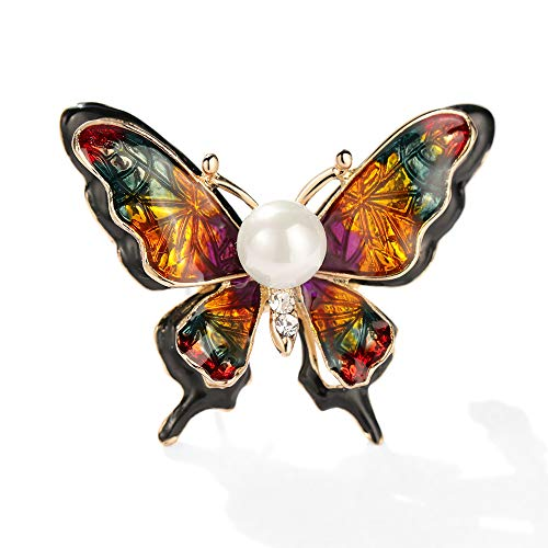 綺麗おしゃれな上品なパールブローチが優雅な真珠蝶ブローチです