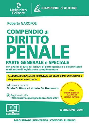 Compendio di diritto Penale Parte generale e speciale 2021. Con aggiornamento online