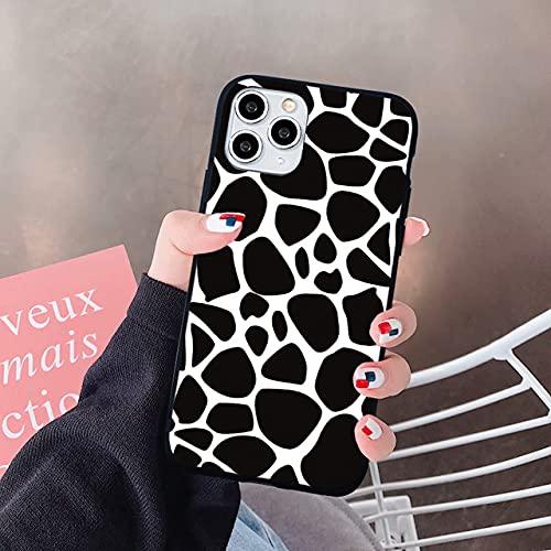 Funda de teléfono con Estampado de patrón de símbolo de Vaca Negra Blanca para iPhone XS MAX 11 Pro 12 Mini SE2020 X XR 7 6 8Plus Fundas de Cubierta Dura, Estilo5, para iPhone 7 Plus
