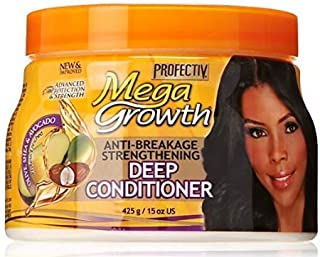 Mega Growth Anti-Breakage Strengthening Deep Conditioner - Hydrating Hair Mask, Restores & Repairs Damaged Fragile Hair, Revitalizes, Renews, Protects From Damage, Restores Softness & Shine, 15 oz.