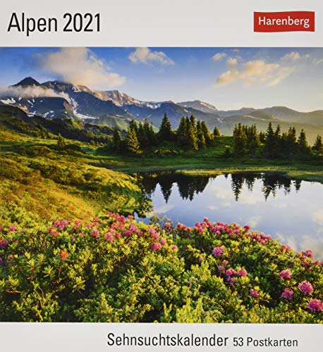 Alpen Kalender 2021: Sehnsuchtskalender, 53 Postkarten