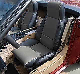 Chevy Corvette C4 STANDARD(BASE) 1984-1993 BLACK/CHARCOAL Artificial leather Custom Made Original fit seat cover