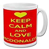 Tazza 'Keep Calm and Love McDonalds' (ROSSO) - 283,5 g