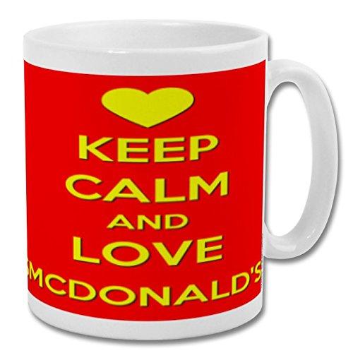 Taza Keep Calm and Love McDonalds (rojo) de 293 ml