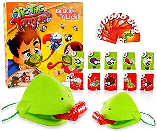 TTCPUYSA Tongue Bug Catching, Tic TAC Tongue Chameleon Bug Catch, Juego de Mesa Interactivo multijugador