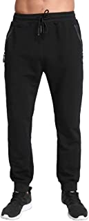 Men's Lightweight Joggers Casual Slim Sweatpants Track Pants with Zipper Pockets