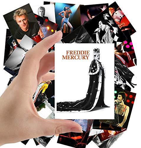 Große Aufkleber (24 Stück 60 x 90 mm) Freddie Mercury und Roger Taylor Queen Rock Musik Poster Fotos Vintage Zeitschriftenabdeckung